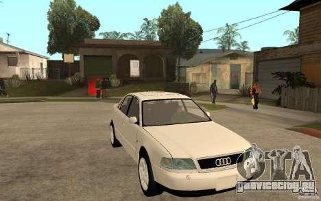 Audi A8 4.8L 2000 для GTA San Andreas вид сзади