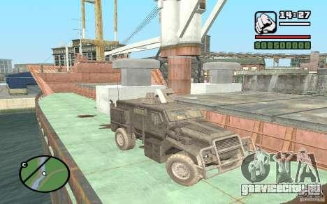 Военный грузовик для GTA San Andreas
