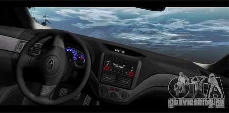Subaru Forester RRT sport 2008 для GTA San Andreas вид снизу