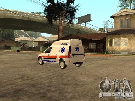 Dacia Logan Ambulanta для GTA San Andreas вид сзади слева