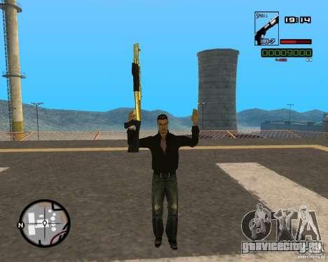 Shotgun Gold для GTA San Andreas второй скриншот