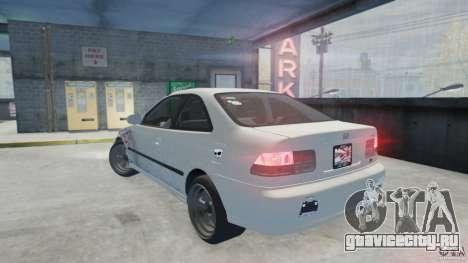 Honda Civic Si 1999 JDM [EPM] для GTA 4 вид слева