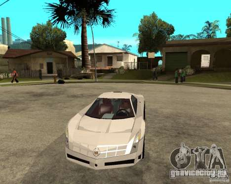 Cadillac Cien для GTA San Andreas вид сзади