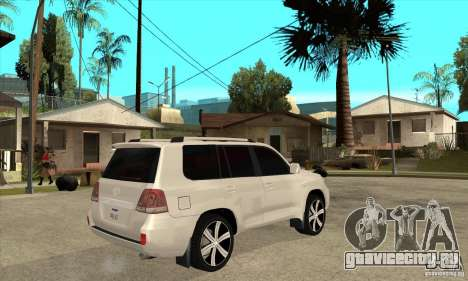Toyota Land Cruiser 200 для GTA San Andreas вид справа