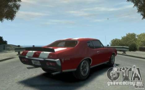 Pontiac GTO Hardtop 1968 v1 для GTA 4 вид справа