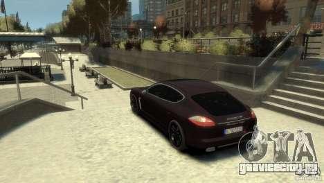 PORSCHE Panamera Turbo для GTA 4 вид слева