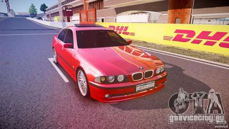 BMW 530I E39 stock chrome wheels для GTA 4 вид сзади