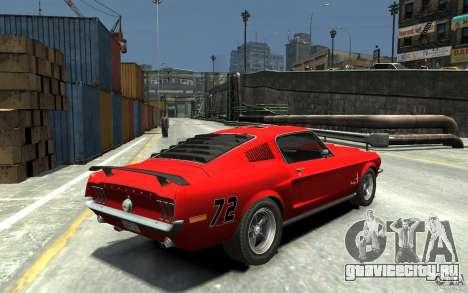 Ford Mustang Fastback 302did Cruise O Matic для GTA 4 вид справа