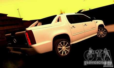 Cadillac Escalade Ext для GTA San Andreas вид сзади слева