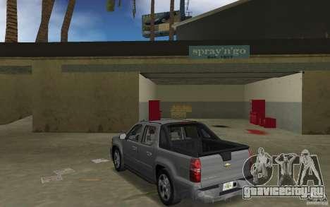 Chevrolet Avalanche 2007 для GTA Vice City вид сзади слева