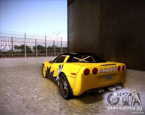 Chevrolet Corvette C6 super promotion для GTA San Andreas вид слева