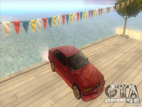 BMW E36 для GTA San Andreas вид сверху