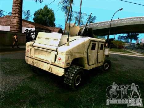 Hummer H1 Irak для GTA San Andreas вид сзади слева