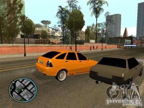 Lada Priora DagStailing для GTA San Andreas вид сзади слева