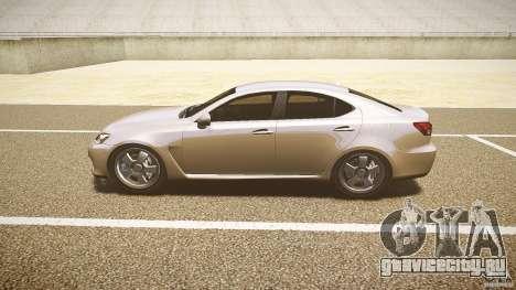 Lexus IS F для GTA 4 вид сзади слева