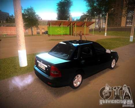 Лада Приора Люкс для GTA San Andreas вид сзади