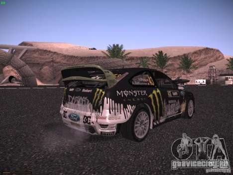 Ford Focus RS Monster Energy для GTA San Andreas вид сзади слева