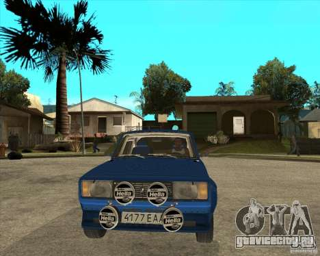 ВАЗ 2105 VFTS-ралли для GTA San Andreas вид сзади