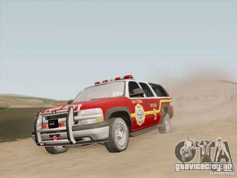 Chevrolet Suburban SFFD для GTA San Andreas колёса