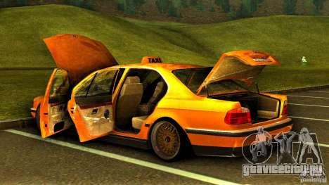 BMW 730i Taxi для GTA San Andreas вид сверху