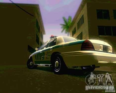 Ford Crown Victoria 2003 NYPD police для GTA San Andreas вид справа