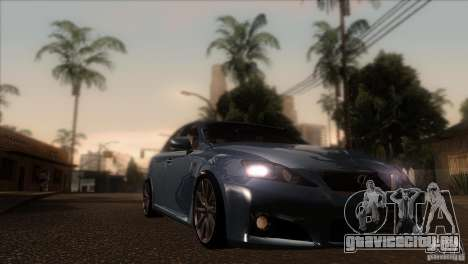 Lexus IS-F для GTA San Andreas вид сзади
