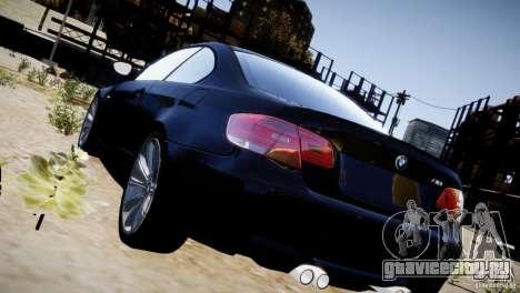 BMW M3 E92 для GTA 4 вид снизу