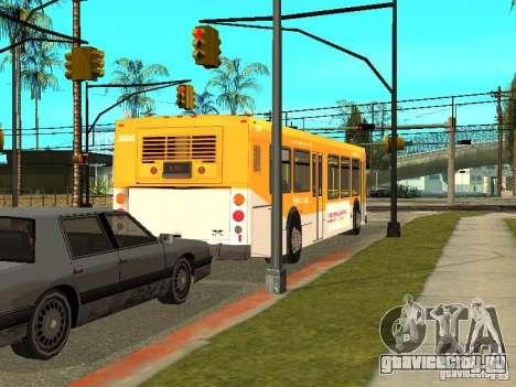 New Flyer D40LF для GTA San Andreas вид сзади слева