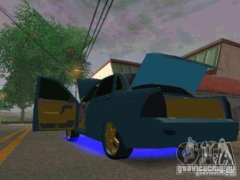 ВАЗ 2170 Приора Gold Edition для GTA San Andreas вид сзади слева