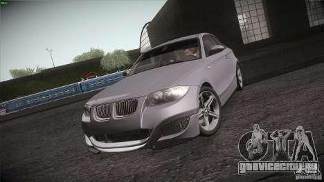 BMW 135i Coupe Road Edition для GTA San Andreas вид изнутри