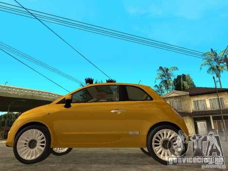 Fiat 500 C для GTA San Andreas вид слева