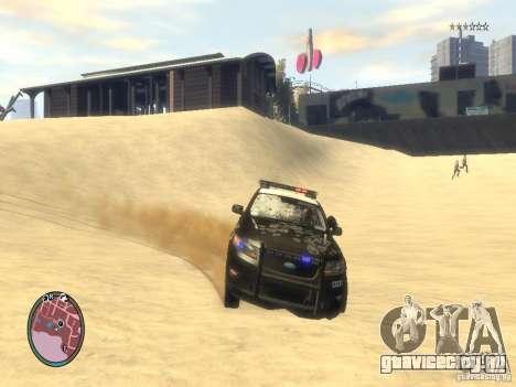 Ford Taurus Police для GTA 4 вид снизу