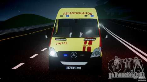 Mercedes-Benz Sprinter PK731 Ambulance [ELS] для GTA 4 вид сверху
