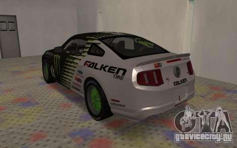 Ford Mustang GT Falken Monster 2010 v2.0 для GTA San Andreas вид справа