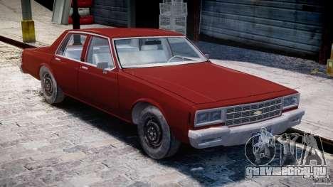 Chevrolet Impala 1983 для GTA 4 вид изнутри