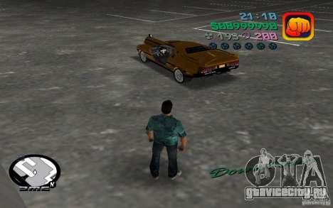 Delorean DMC-13 для GTA Vice City вид сзади слева
