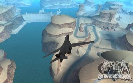 B1-B LANCER для GTA San Andreas вид сзади