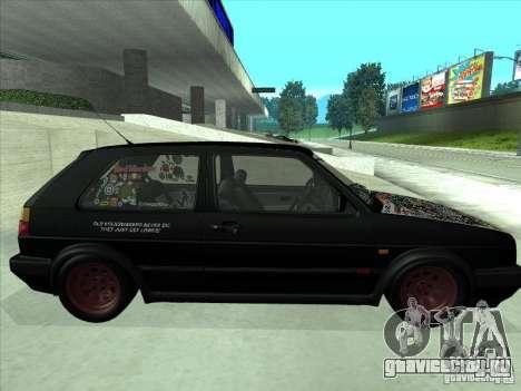 Volkswagen Golf 2 Rat Style для GTA San Andreas вид справа