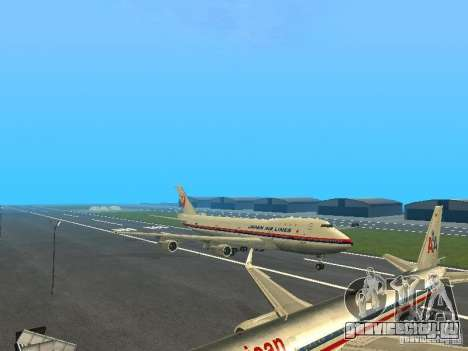 Boeing 747-100 Japan Airlines для GTA San Andreas вид слева