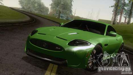 Jaguar XKR-S 2011 V1.0 для GTA San Andreas вид справа