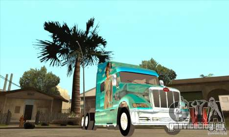 Peterbilt 387 скин 4 для GTA San Andreas вид изнутри