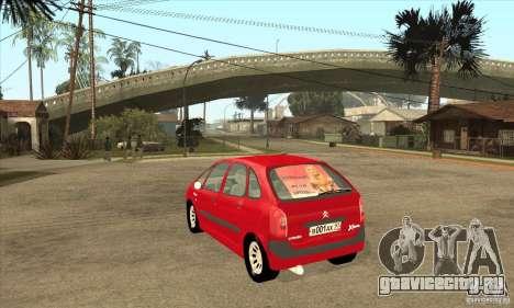Citroen Xsara Picasso для GTA San Andreas вид сзади слева