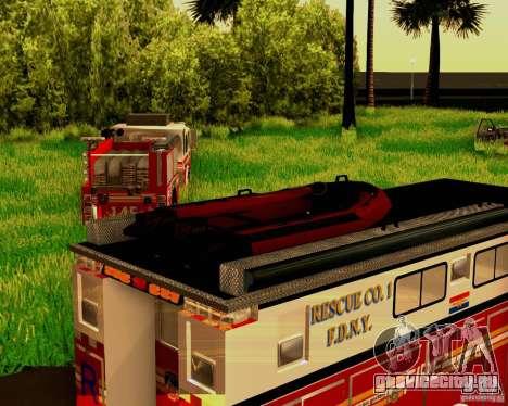 Pumper Firetruck Pierce F.D.N.Y для GTA San Andreas вид изнутри