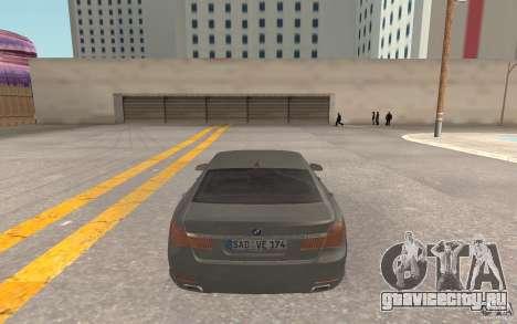 BMW 730d для GTA San Andreas вид справа