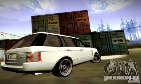 Range Rover Supercharged для GTA San Andreas вид снизу