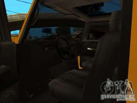Hummer H2 4x4 diesel для GTA San Andreas вид сзади