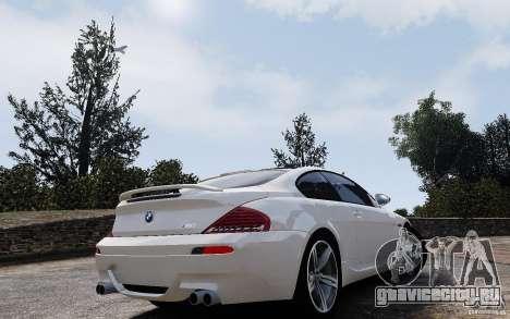BMW M6 2010 v1.4 для GTA 4 вид изнутри