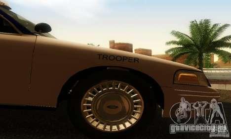 Ford Crown Victoria Virginia Police для GTA San Andreas вид справа