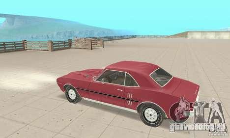 Pontiac Firebird 1968 для GTA San Andreas вид сзади