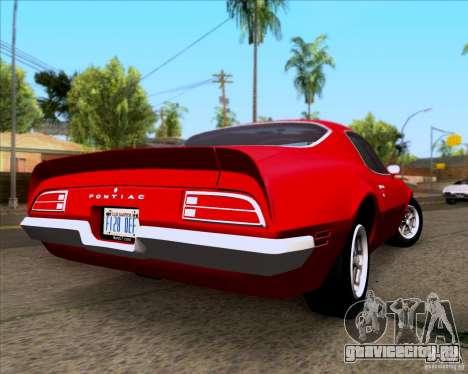 Pontiac Firebird 1970 для GTA San Andreas вид справа